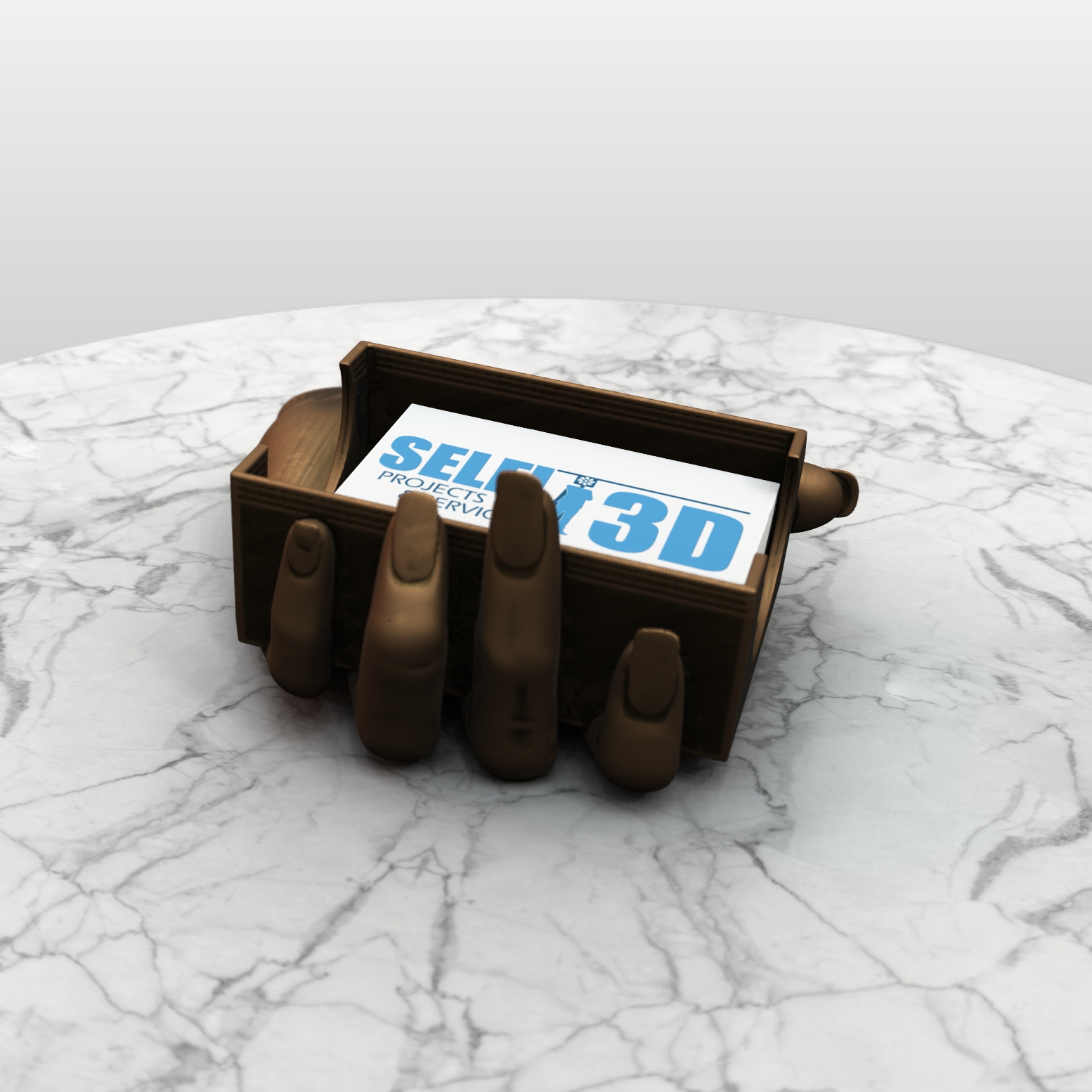 SAVE_20190730_143046.jpg Download free OBJ file Hand Card holder • Object to 3D print, Selfi3D