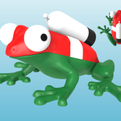Rana combo.png Download STL file Frog with bottle - Various colors and pieces • Model to 3D print, Selfi3D