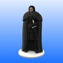 Jon_Snow_Color.png Télécharger fichier STL Jon Snow • Objet imprimable en 3D, Selfi3D