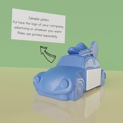1.jpg Download OBJ file Car-shaped advertising keychain (two pieces) • 3D printable design, Selfi3D