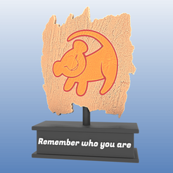 Download free 3D print files Lion King Trophy - Simba, Selfi3D