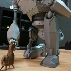 Free 3D file Massive Iron Giant and Hogarth, selfi3desp