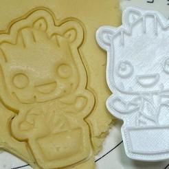 Unbenannt.jpg Download free STL file Dancing Groot Cookie Cutter • Model to 3D print, muellerpaul1