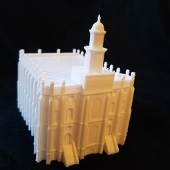 Download free 3D print files St. George Utah Temple Church of Jesus Christ of Latter-day saints, shermluge