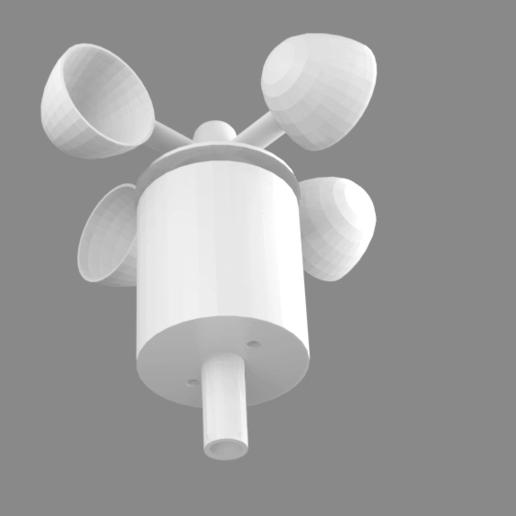 full-v2.png Télécharger fichier STL gratuit Indicateur de vitesse du vent - Anémomètre V2.0 • Design à imprimer en 3D, shermluge