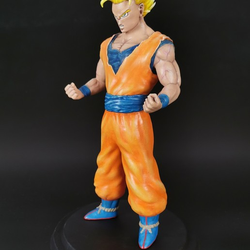 DBZ_SonGoku_SSJ2_Painted_3Dprint2.jpg Télécharger fichier STL Son Goku (Super Saiyan 2) • Objet pour imprimante 3D, Andreasfendt