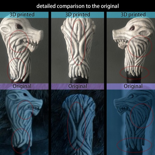 DetailierterVergleich_EN.jpg Télécharger fichier STL L'épée de Longclaw - L'épée de Jon Snow de Game of Thrones • Objet à imprimer en 3D, Andreasfendt