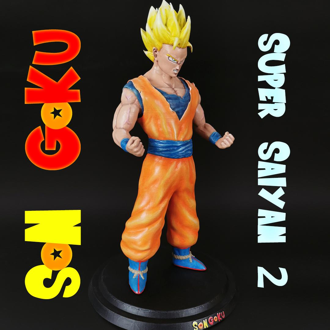 1s.jpg Télécharger fichier STL Son Goku (Super Saiyan 2) • Objet pour imprimante 3D, Andreasfendt