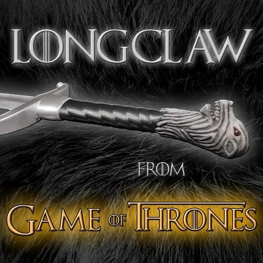Title.jpg Télécharger fichier STL L'épée de Longclaw - L'épée de Jon Snow de Game of Thrones • Objet à imprimer en 3D, Andreasfendt