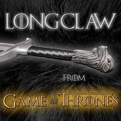 Download STL Longclaw Sword- Jon Snow's Sword of Game of Thrones, Andreasfendt
