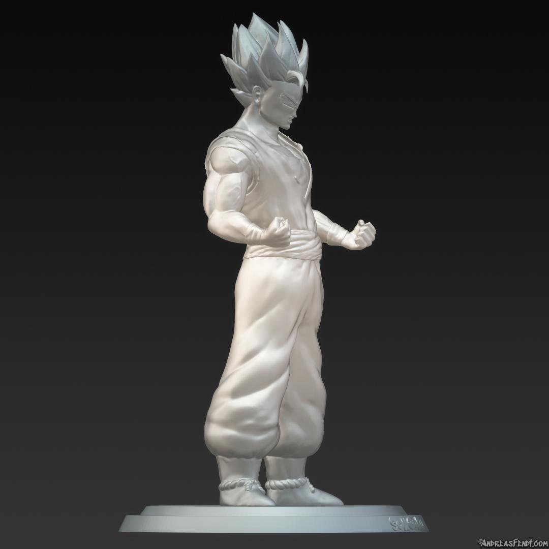 DBZ-Dragon-Ball-Z-Son-Goku-super-saiyajin2-Saiyan-2SSJ2-sculpted.jpg Télécharger fichier STL Son Goku (Super Saiyan 2) • Objet pour imprimante 3D, Andreasfendt