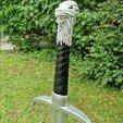 Game of Thrones GOT wolf sword Bastard Jon Snow2.jpg Télécharger fichier STL L'épée de Longclaw - L'épée de Jon Snow de Game of Thrones • Objet à imprimer en 3D, Andreasfendt