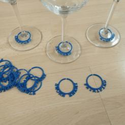 Modelos 3D para imprimir Marcador de vaso de vino D&D, Jinja