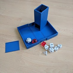 3d printer designs Dice Tower and Dice Box, Jinja