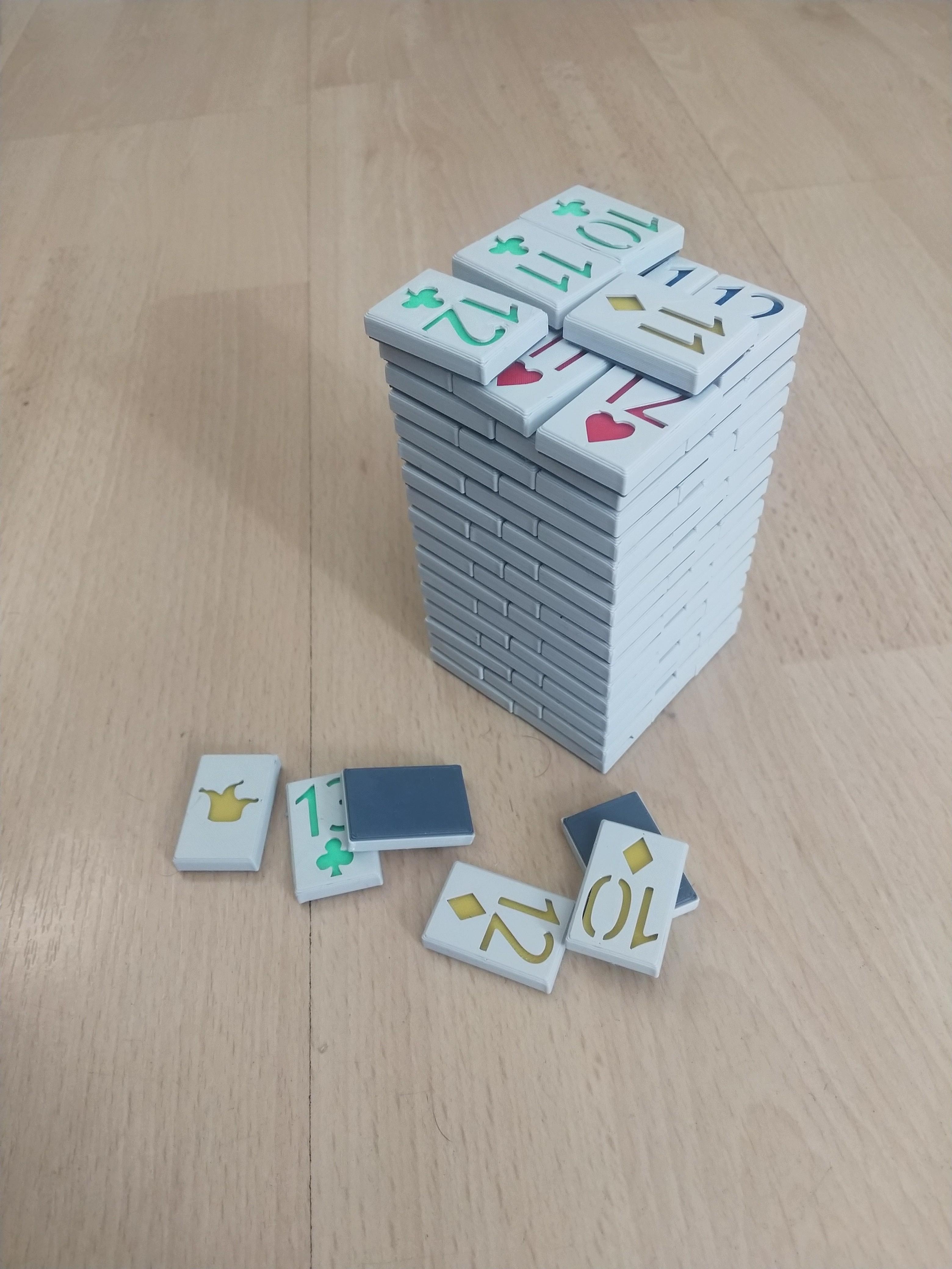 BlockStack.jpg Download STL file Playing Card Tiles • Object to 3D print, Jinja