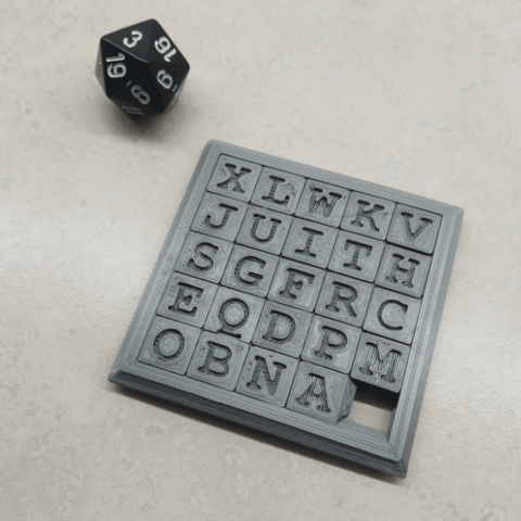 Sliding5x5Puzzle1.png Download STL file Two Sided Sliding Puzzle • 3D printable model, Jinja