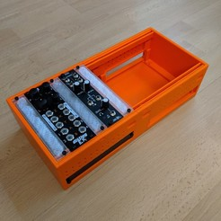 3DPrintedCase3.jpg Download STL file Expandable Eurorack Case Blocks • 3D printing model, Jinja