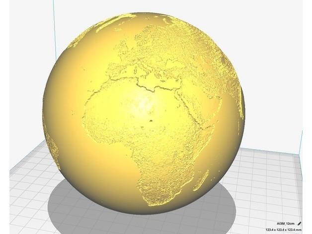 a8e6dd3c6299f1a2149fd6daecc81dc2_preview_featured.jpg Download free STL file Spherical Lithophane - World Map 12cm remix • 3D printable object, Domi1988