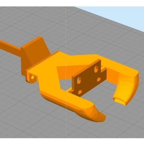 Download free STL files Anycubic I3 Mega 2 side fanduct rear mounted