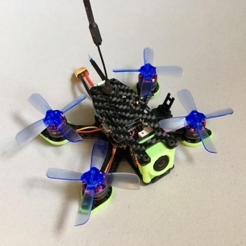 Free stl Lantian L90 Drone Buzzer LED Holder, Domi1988