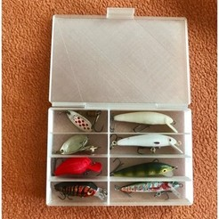 Free 3d printer model Fishing lure box small, Domi1988