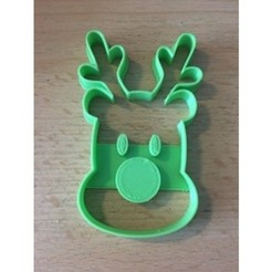 c692717a4783246debde8ad4a2296ce9_preview_featured.jpg Download free STL file Rudolf Christmas Cookie • 3D printable design, Domi1988