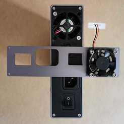 Télécharger fichier imprimante 3D gratuit Alimentation Snapmaker 2.0 Plaque arrière du ventilateur 40mm, Domi1988