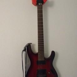Download 3D printer designs Wall bracket for guitar, Miib96