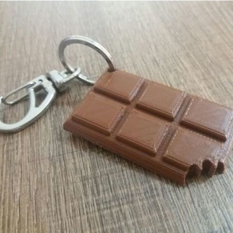 Free 3d print files chocolate keychain, caiodelfini