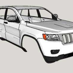 Download STL 1:10 2011 jeep grand cherokee rc body shell, zxpirana