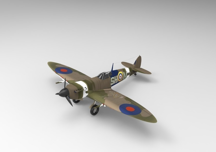 Sp.21.jpg Télécharger fichier STL gratuit  Supermarine Spitfire • Modèle pour imprimante 3D, ekynops