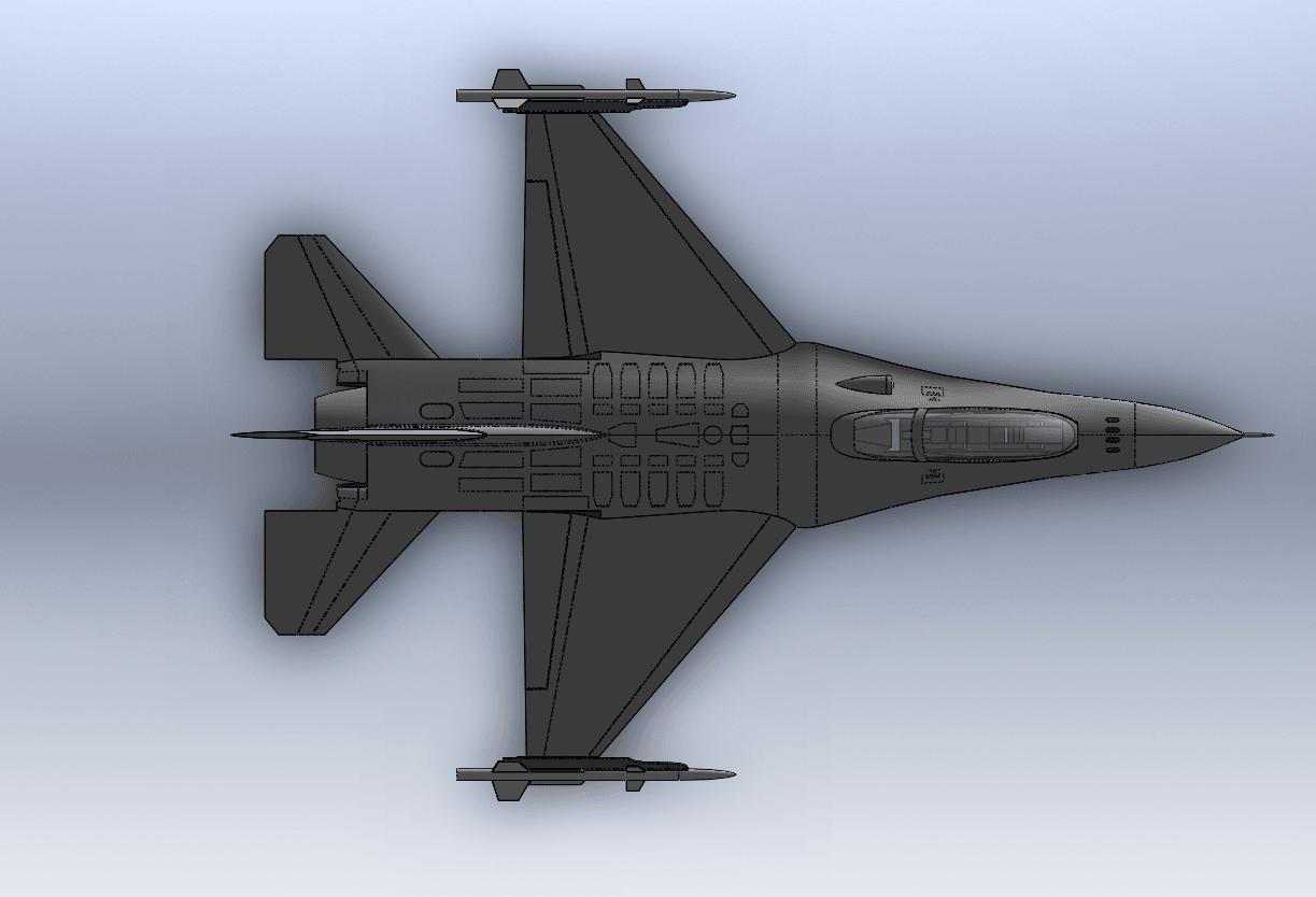 Capture d'écran (61).png Télécharger fichier STL gratuit F-16 Fighting Falcon • Objet pour imprimante 3D, ekynops