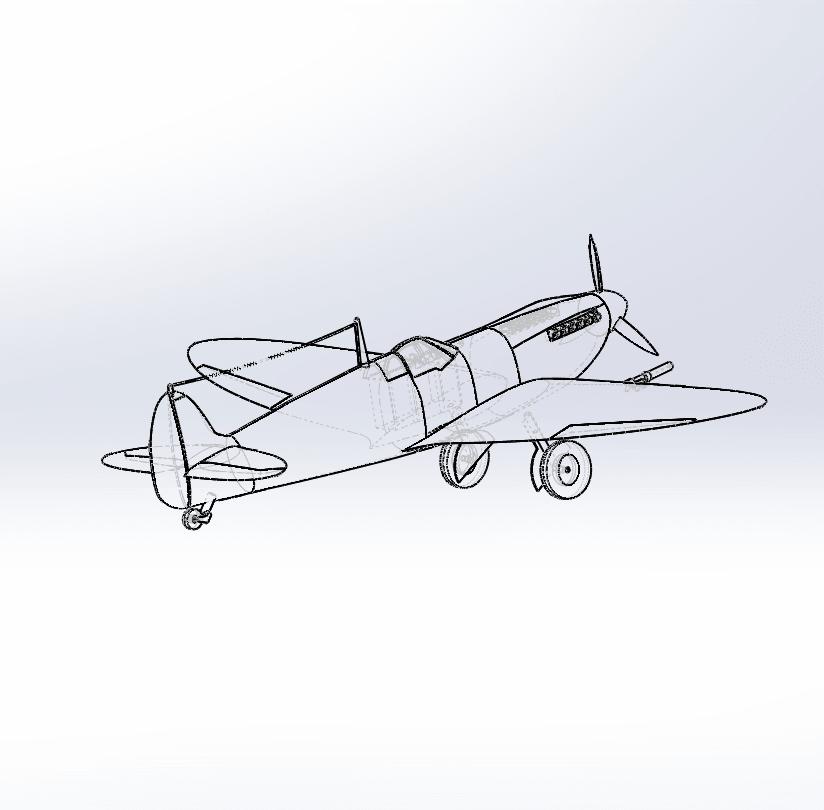 Capture d'écran (74).png Télécharger fichier STL gratuit  Supermarine Spitfire • Modèle pour imprimante 3D, ekynops