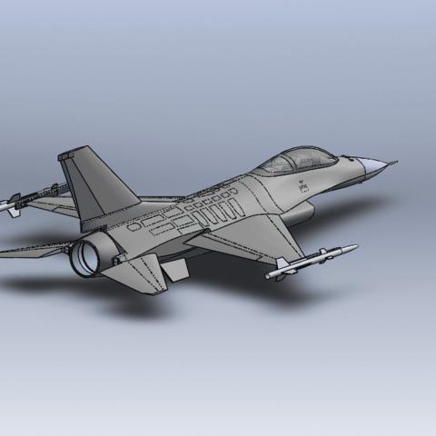 Capture d'écran (63).png Télécharger fichier STL gratuit F-16 Fighting Falcon • Objet pour imprimante 3D, ekynops