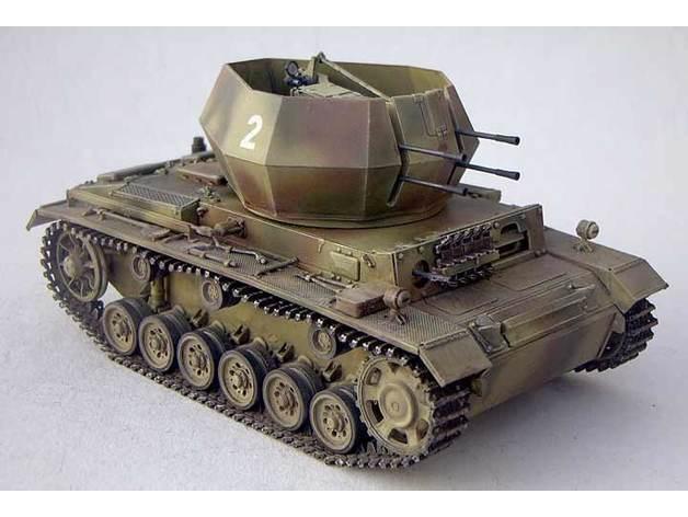 67a9866709d37614e25a7b0c1f984e05_preview_featured.jpg Télécharger fichier STL gratuit German flakpanzer • Plan pour impression 3D, ekynops