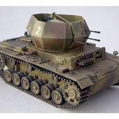 Download free 3D printing templates German flakpanzer, ekynops
