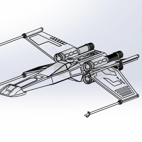 Capture d'écran (52).png Download free STL file X-Wing Star Wars • 3D print design, ekynops