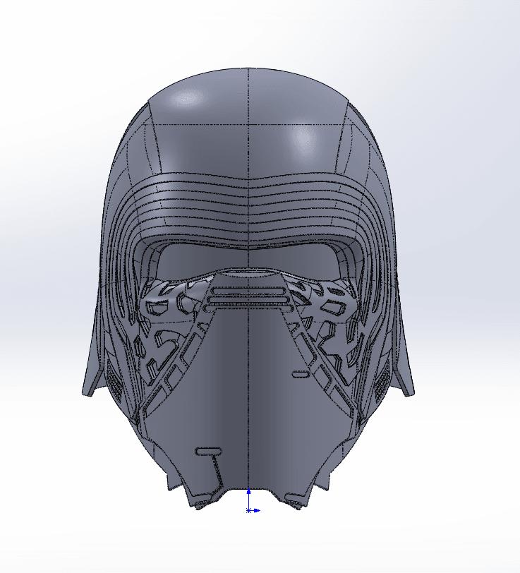 Capture d'écran (69).png Télécharger fichier STL gratuit Casque Kylo Ren • Design imprimable en 3D, ekynops