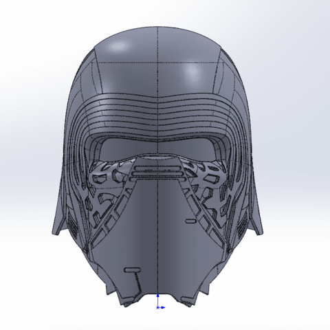 Capture d'écran (69).png Download free STL file Kylo Ren Headset • Template to 3D print, ekynops