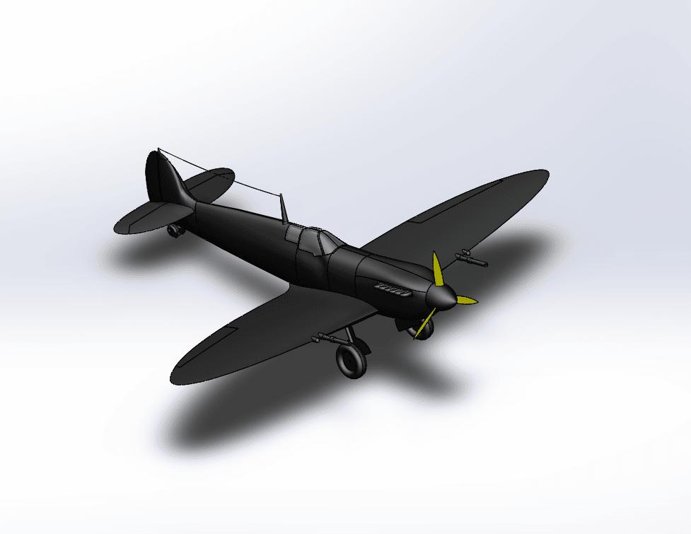 Capture d'écran (75).png Télécharger fichier STL gratuit  Supermarine Spitfire • Modèle pour imprimante 3D, ekynops