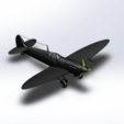 Download free STL files Supermarine Spitfire, ekynops