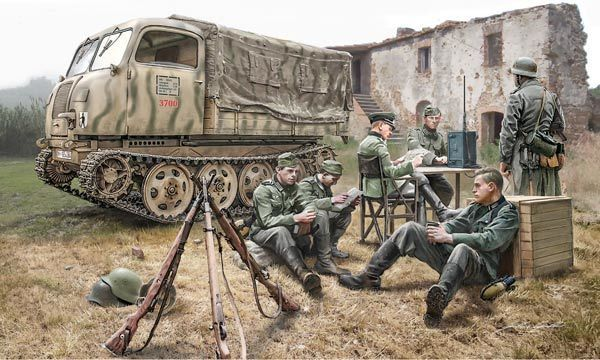 ITAL6549.jpg Télécharger fichier STL gratuit German WWII Tanks Trucks  • Design à imprimer en 3D, ekynops