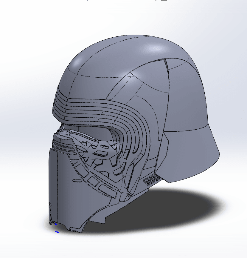 Capture d'écran (70).png Download free STL file Kylo Ren Headset • Template to 3D print, ekynops