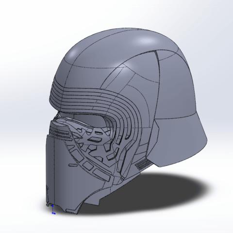 Capture d'écran (70).png Télécharger fichier STL gratuit Casque Kylo Ren • Design imprimable en 3D, ekynops