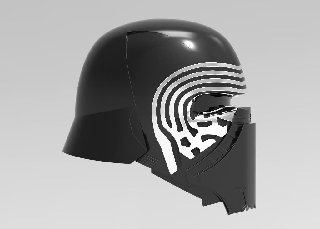 rendu.62.jpg Télécharger fichier STL gratuit Casque Kylo Ren • Design imprimable en 3D, ekynops