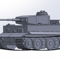 Download free 3D printing files Tiger I, German Tank, ekynops