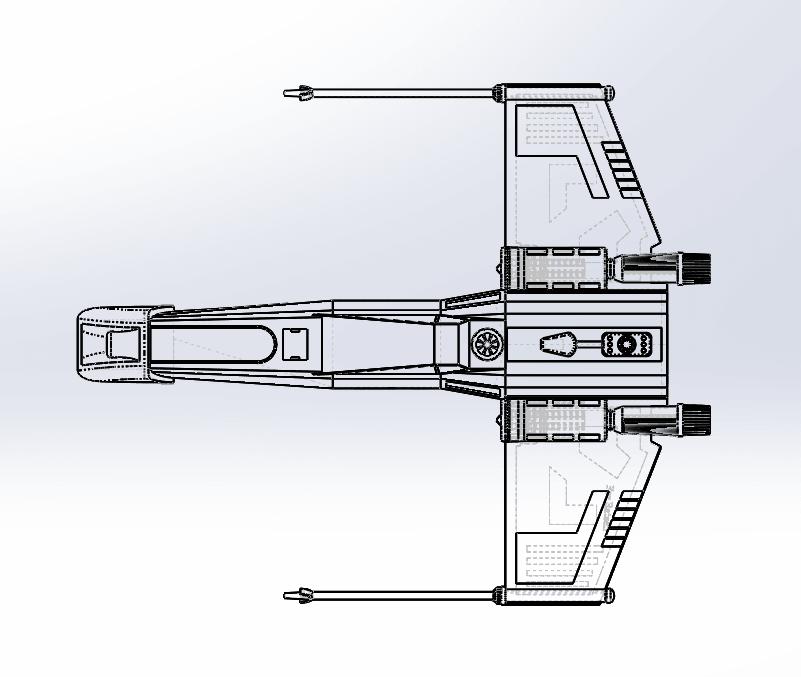 Capture d'écran (53).png Download free STL file X-Wing Star Wars • 3D print design, ekynops