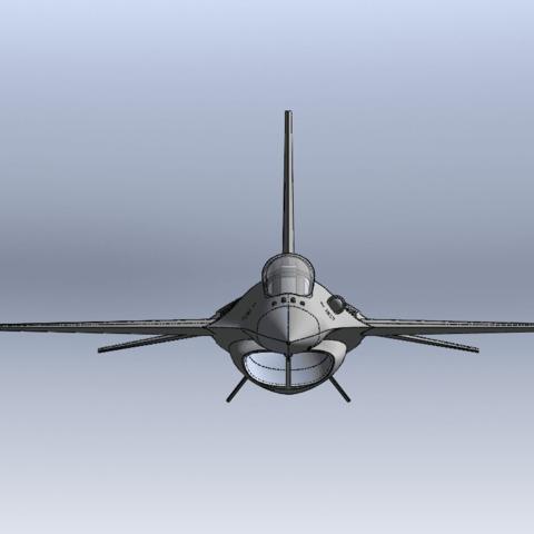 Capture d'écran (62).png Télécharger fichier STL gratuit F-16 Fighting Falcon • Objet pour imprimante 3D, ekynops