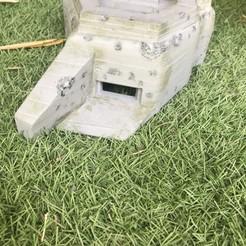 Modèle 3D Bunker WW2 1:72, ekynops