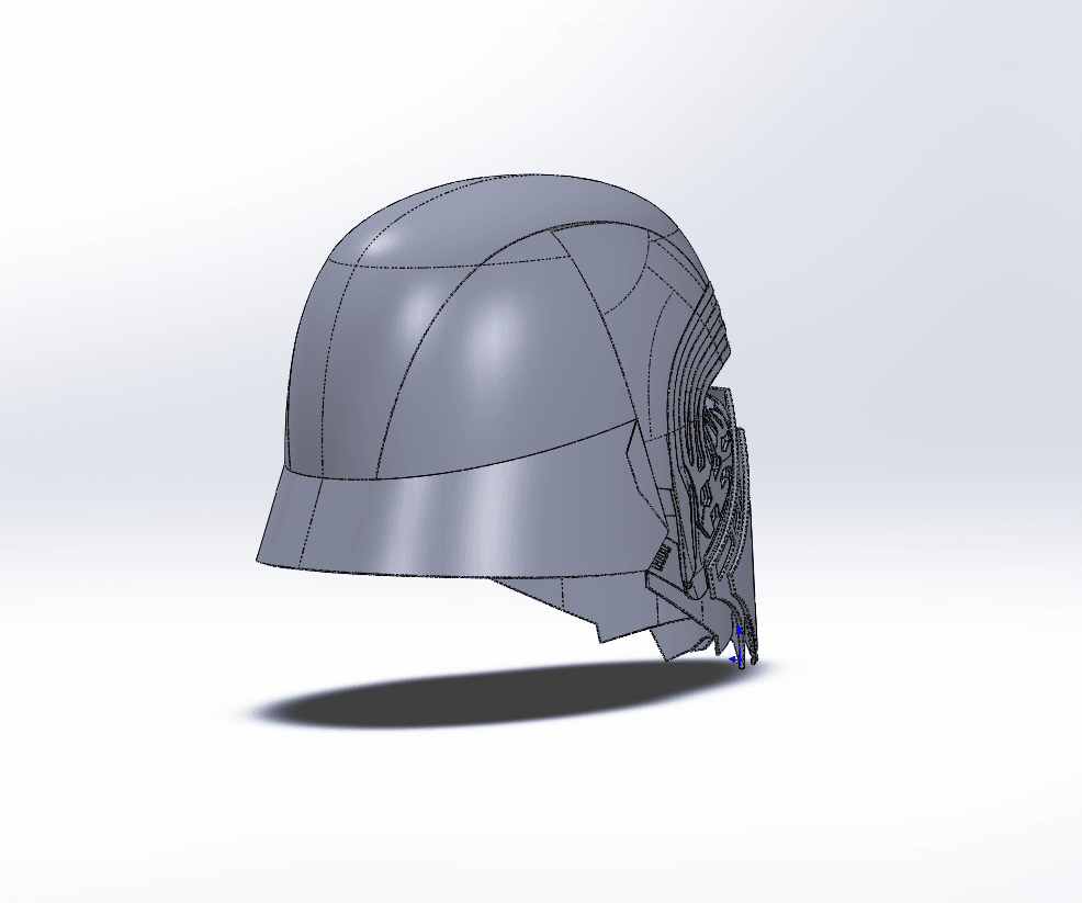 Capture d'écran (71).png Download free STL file Kylo Ren Headset • Template to 3D print, ekynops